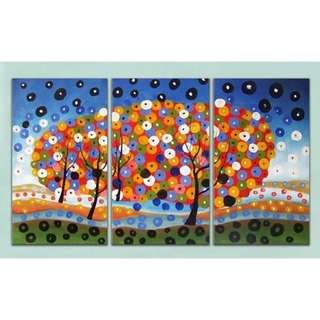 Colorful Wishing Trees Handpainted Oil Painting