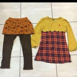 🚚 麗嬰房女童洋裝,韓國製女童褲裙