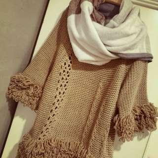手工圍巾 專櫃 綿