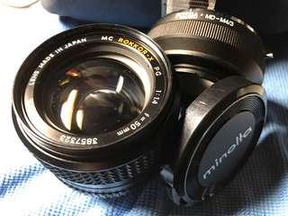 Vintage lens - Minolta MC Rokkor-X 50mm f1.4