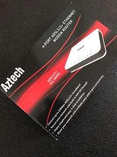 Aztech 4-port ADSL Modem Router (BNIB)