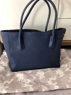 Dagne Dover | Large Navy Work Handbag