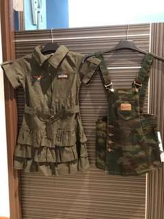 Military Camouflage Girl Premium Dresses $100