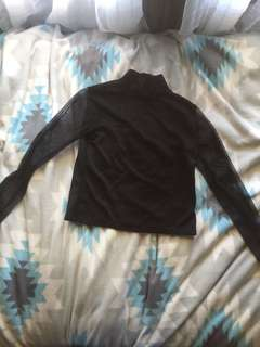 black shirt w/ mesh arms