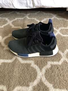 Adidas Women's NMD R1 Suede in Olive Black Blue  size 6