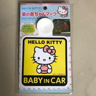 Hello Kitty Baby in car 車貼