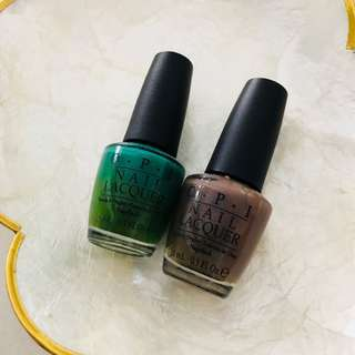 $9 for Both - OPI Nail Polish (Jade is the New Black, You dont know Jacques)