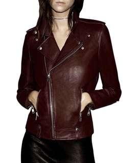 ENA PELLY Leather Jacket XS