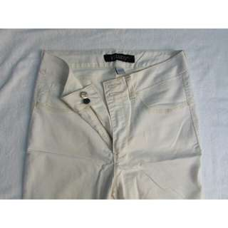 High Waist Pants White Size 32. Pre-loved.