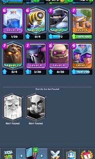Clash Royale Account Level 11