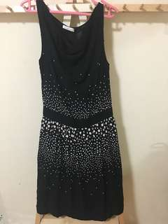 Promod Polka Dot Black Dress