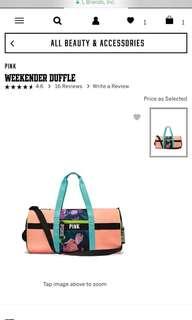 Victoria's Secret Weekender Duffle/Gym bag