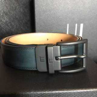 Dunhill belt dark blue black Matt buckle adjustable