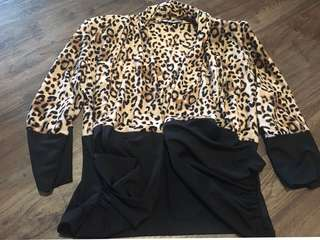 Leopard printed jacket size 14 for sale