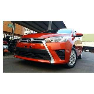 豐田 2014 YARIS  稀有橘紅 車況極好 可全貸 免頭款
