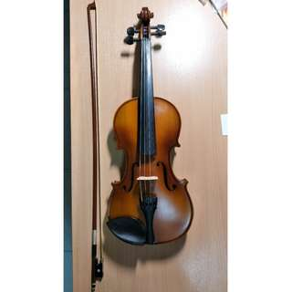 Violin (full 4/4 size) + accessories + books for sale