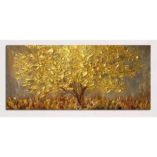 Golden Money Tree Handpainted Oil Painting