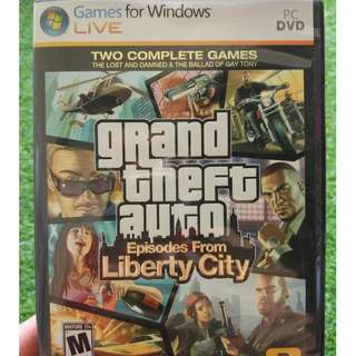 GTA Grand Theft Auto Episodes From Liberty City PC DVD