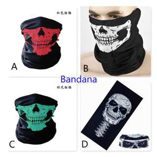 Bandana/ Multi Function Scarf/ Head Neck Wear/ Outdoor scarf/ Biker face mask