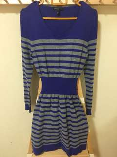 Mango Long Sleeve Stripe Dress