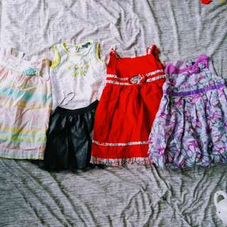 4 Baby Dresses for 500pesos