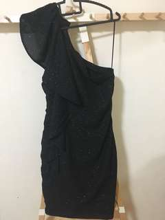 Mango 1 Sided Black Dress