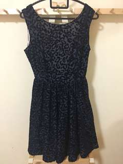 Zara Blue Leapord Print Dress