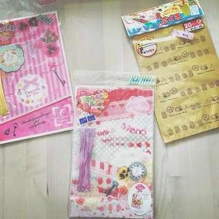 日本 Japan Wrapping Bag * 食物/禮物 包裝袋 * 3款