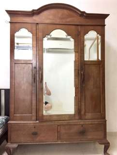1890 Elm Victorian 3 Door Cupboard