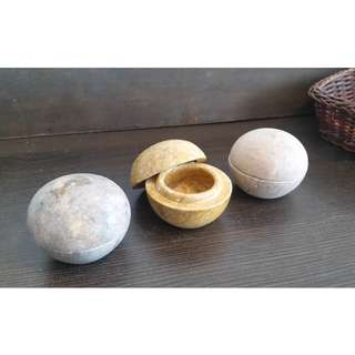 AUTHENTIC & ORIGINAL STONE CARVED BALL