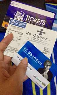 Ed Sheeran Silver Ticket 1pc only