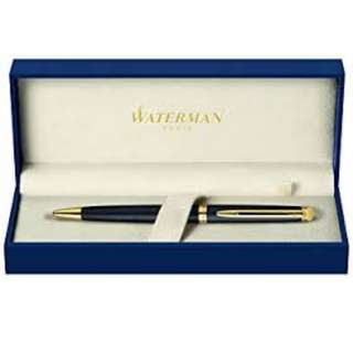 Waterman Hemisphere Black Ballpoint Pen (Comes with Blue Refill)