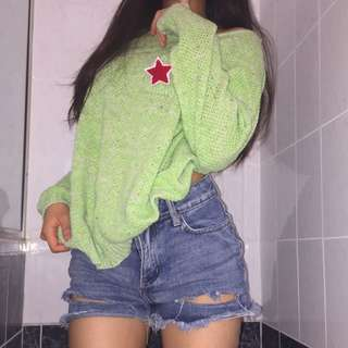 Green Woollen Sweater