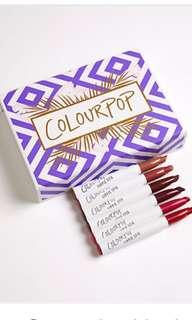 Colourpop staycation matte Lippie stix kit