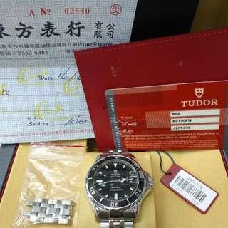 Tudor(帝舵)89190PN--絕版經典潛水錶 Prince Date Hydronault --95% 新淨(Full Set)