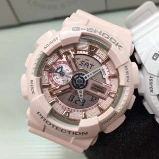 Hottest Model Medium Size Gshock for Ladies Girls GMAS110MP-4a1 CASIO GSHOCK GMAS110MP Nude Pink FREE DELIVERY