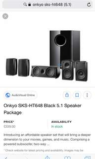 Onkyo 5.1 Home Theater Syetem