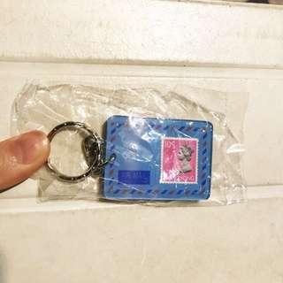 英女王郵票匙扣 珍藏收藏品