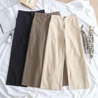 [PO] nude palette elasticized culottes/ pants