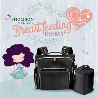 Thomson black diaper bag