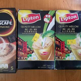 NESCAFE CAPPUCCINO Lipton絕品醇台式茉香奶茶
