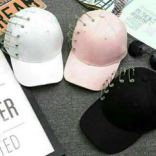 Safety pin Korean baseball cap