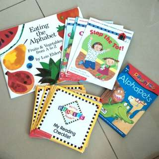 [clearance] phonics & alphabet children's books for early readers (nursery)