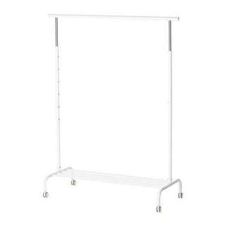 IKEA white clothes rack