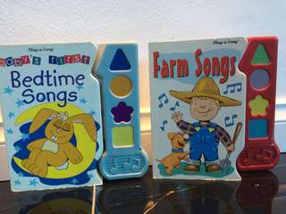 Sing along children's song book with music