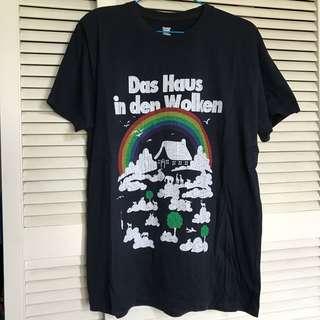 日本Design Tshirts Store graniph 深藍色