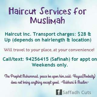 Haircut Services For Muslimah