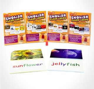 English Flashcards- Full Set (Beginner 1 -4 and Intermediate 1- 4)