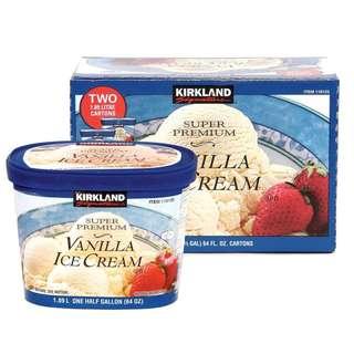 好市多科克蘭香草冰淇淋 2入