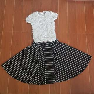 Crop Top & Skirt Terno
